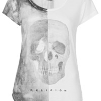 **Twist Skull Tee by Religion - New In This Week - New In - Topshop