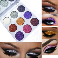 Make Up 9 Colors Glitter Diamond Rainbow Blingbling Eyeshadow Palette Ultra Pigmented Gliter Shimmer Eye Shadow Maquiagem