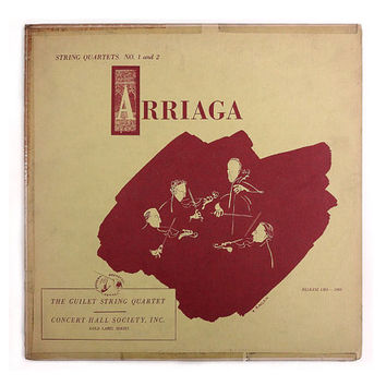 "Vladimir Kagan record album design, c.1952. ""Arriaga"" LP"