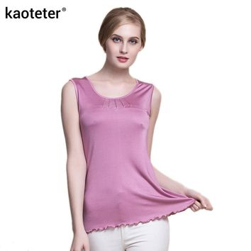 100% Pure Silk Women's Tank Tops Women Sleeveless Vest Blusa Femme Casual Blouse Feminina Blouses Ladies Shirts Female Woman