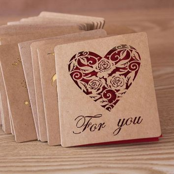 Folding Kraft Paper Greeting Card