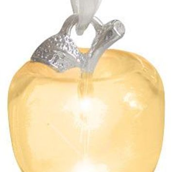 Money Talisman Apple In Citrine Crystal Silver Pendant