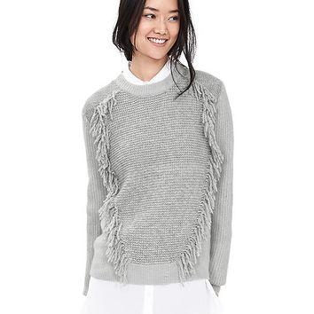 Banana Republic Womens Fringe Front Pullover
