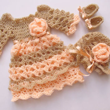 Baby Dress Pattern, Shoes Crochet Pattern, Baby Hat Pattern, Baby Set Pattern, Hat Shoes Dress Pattern,