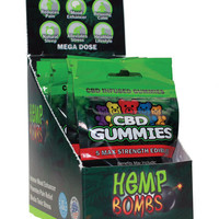 Hemp Bomb Cbd Gummies - Pack Of 5 Display Of 12