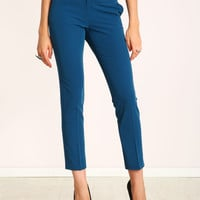 Belted Slim Ankle Trouser