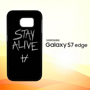Twenty One Pilots Stay Alive X4419 Samsung Galaxy S7 Edge Custom Case