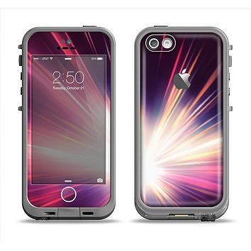 The Pink Rays of Light Apple iPhone 5c LifeProof Fre Case Skin Set