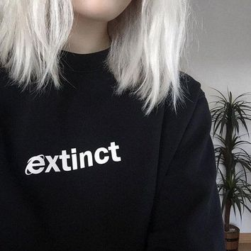 Extinct Sweatshirt 90s Internet Explorer Vaporwave Tumblr Inspired Hoodies Pale Pastel Grunge Aesthetic Black Grid