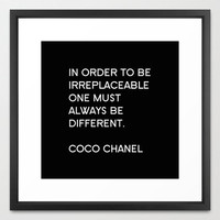 Typography Print - Chanel Print - Canvas - Coco Chanel - Typography Print - Wall Decor - Fashion Wall Art - Fashion Quotes - Gift for Her