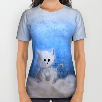 kitten in the sky All Over Print Shirt by VanessaGF