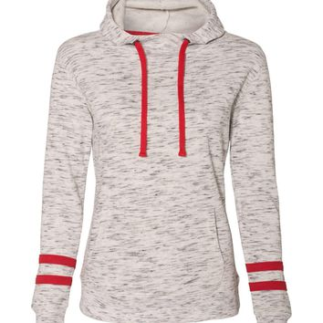 In Stock - Womens Jersey Hoodie with stripes (several colors available )