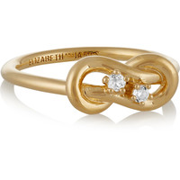 Catalan gold-plated quartz ring | Elizabeth and James | US | THE OUTNET