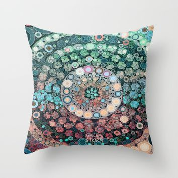 :: Sherbert Float :: Throw Pillow by :: GaleStorm Artworks ::