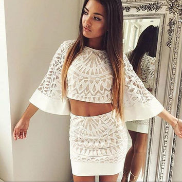 TALITA TWO PIECE SET - WHITE