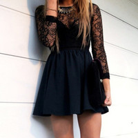 sexy black dresses summer beautiful mini dress = 1876621956