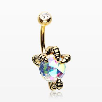 Golden Dragon's Claw Paragon Belly Button Ring