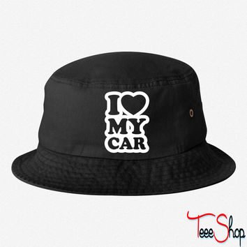 I love my cars bucket hat