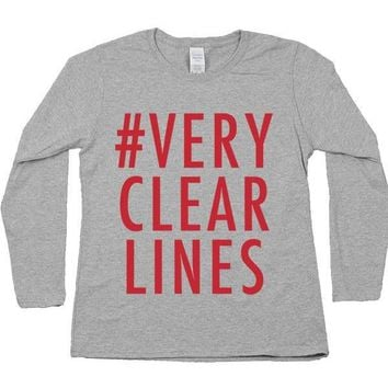 Very Clear Lines -- Women's Long-Sleeve