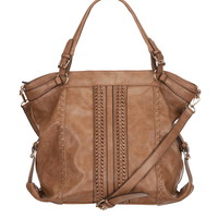 large braided satchel