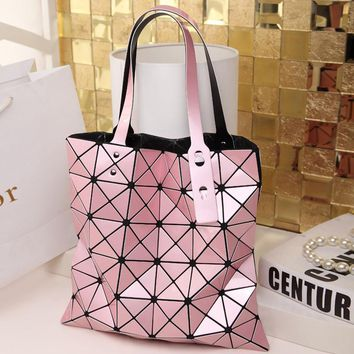 Bao bao Multicolor Geometric Women Bags Diamond Patchwork Women Shoulder Bag Portable tote handbag Issey Miyak Bolsas Feminina
