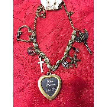 A Charmed Life Photograph Necklace Set