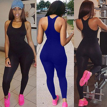 2017 Women's Sports YOGA Workout Gym Fitness Leggings Pants Jumpsuit Bodysuit Rompers