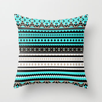 Mix #484 Throw Pillow by Ornaart