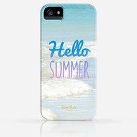 Hello Summer Beach Wave iPhone 4 Case, iPhone 4s Case, iPhone 5 Case, iPhone 5s Case, iPhone Hard Plastic Case