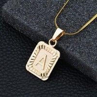 Shiny Jewelry New Arrival Gift Stylish Alloy Alphabet Necklace [10768846403]