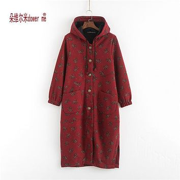 Winter Women Jackets Cotton Coat Padded Long Slim Hooded Parkas Casual Wadded Quilt Snow Outwear Warm Wool Overcoat
