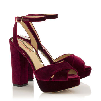 Diana in Plum - Sandals | Charlotte Olympia