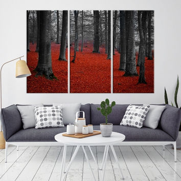 60921 - Forest Wall Art- Autumn Canvas Print- Forest Canvas- Forest Canvas Art- National Art Print- Canvas Print- Large Wall Art-