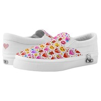 heart emoji shoes sneakers printed shoes
