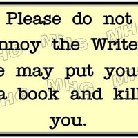 Please Do not annoy the Writer - Poster