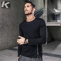 Autumn men t shirt  long sleeve t shirt black Casual Tops