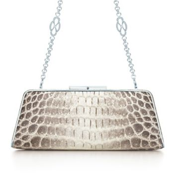 Tiffany & Co. -  Sabrina clutch in natural crocodile. More colors available.