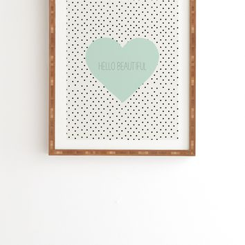 Allyson Johnson Hello Beautiful Heart Framed Wall Art