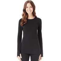 Cuddl Duds Comfortwear Long Underwear Fleece-Lined Crewneck Top