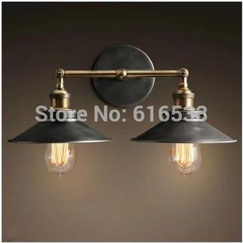 RH Retro Vintage Industry Americanstyle Ancient Umbrella Edison Wall Sconce Lamp Bathroom Mirror Home Decor Lighting Fixture