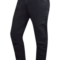 New Men Denim Black Biker Jeans Original Fit