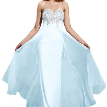 Emma Y Eye-catching Sweetheart Neckline Ball Gowns Prom Dresses Beaded