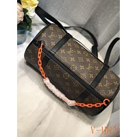 HCXX 19Aug 456 Louis Vuitton LV Print Papillon Handbag Fashion Barrel Bag