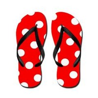 Red Liquorish With Gum Drops By J3ll3y Flip Flops> LOTS OF FLIP FLOPS> THE AFTERLIFE ONLINE CLOTHING STORE