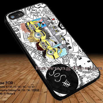 5 Seconds of Summer Minions Collage DOP11 iPhone 6s 6 6s+ 5c 5s Cases Samsung Galaxy s5 s6 Edge+ NOTE 5 4 3 #cartoon #animated #DespicableMe #5sos