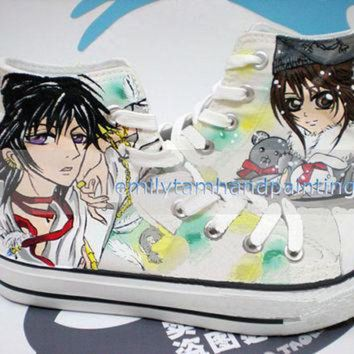 DCKL9 Anime Theme Hand Painted Converse Code Geass and Vampire Knight Custom Converse Sneake