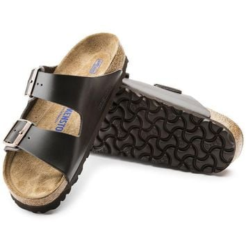 Sale Birkenstock Arizona Soft Footbed Leather Brown 0551031/0551033 Sandals