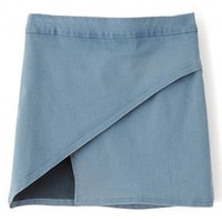 LUCLUC Sky Blue Bodycon Mini Denim Skirt - LUCLUC