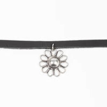 Vanessa Mooney Daisy Girl Leather Choker