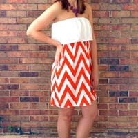 Clemson Game Day Chevron Dress